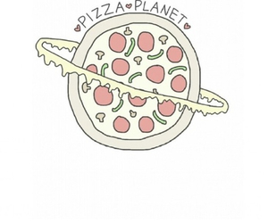 pizza, planet, and food image