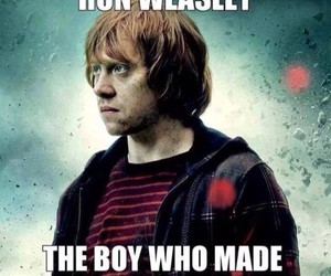 harry potter, friendzone, and ron weasley image