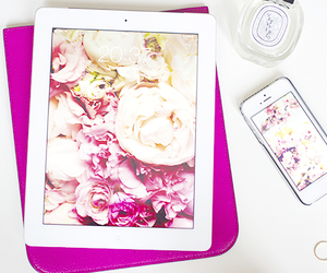 iphone, ipad, and pink image
