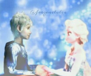 frozen, jelsa, and jackfrost image