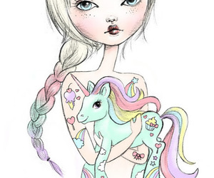 cute, art, and unicorn image
