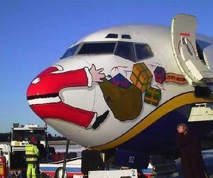santa, funny, and christmas image