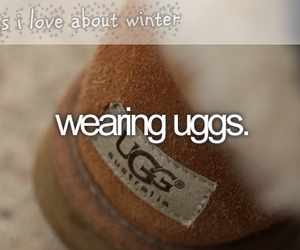 uggs, winter, and snow image
