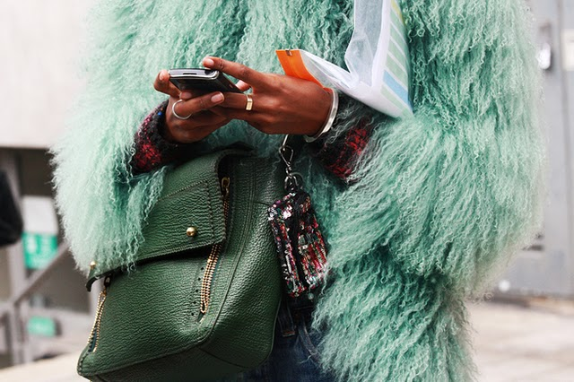 fashion week, streetstyle, and fur image