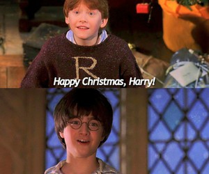harry potter, merry christmas, and ron weasly image