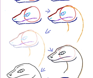 snake and how to draw image