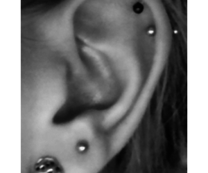 black, ear, and earring image