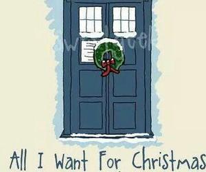 christmas, doctor who, and tardis image