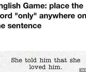 only, english, and game image