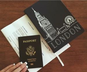 london, passport, and travel image