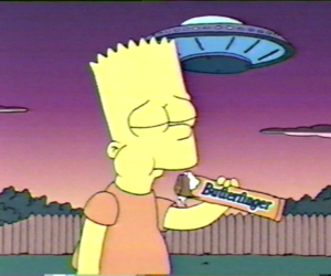 alien, bart, and bart simpson image