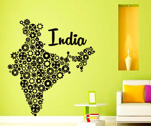 home decor, map, and murals image