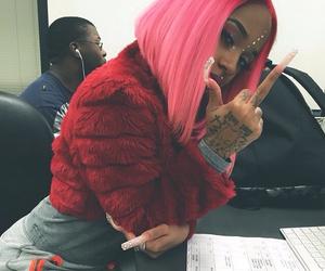 nails, pink, and hair image