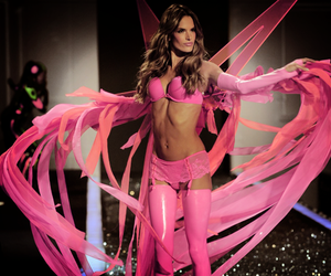 alessandra ambrosio, fashion show, and pink image