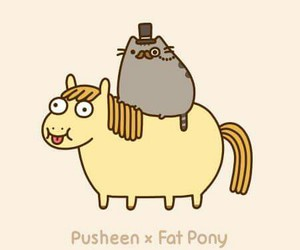pusheen, cat, and pony image