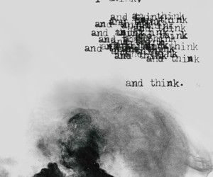 monochrome, think, and words image
