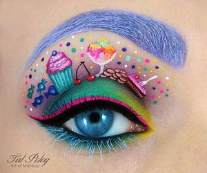 makeup, eye, and sweet image