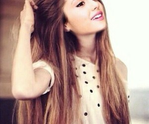 girl, hair, and ariana grande image