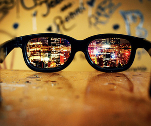city, glasses, and cool image
