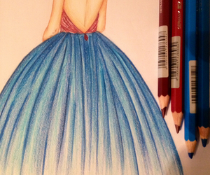 color, drawing, and dress image