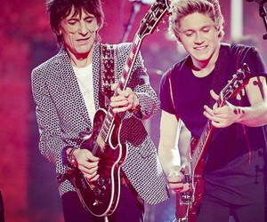 niall horan, one direction, and ronnie wood image