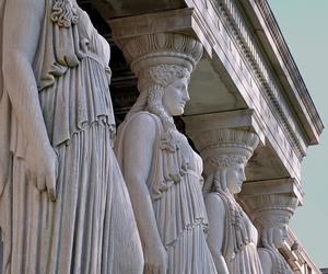 greek, caryatids, and ancient image