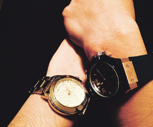 couple, watches, and dkny image
