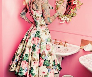 dress, Pin Up, and tattoo image