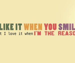 smile, love, and reason image