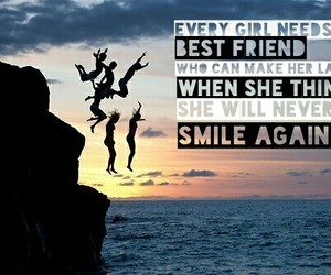 best friend, smile, and make me smile image