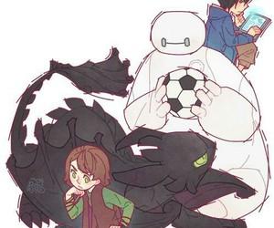 big hero 6, draw, and pets image