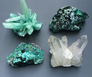 green, crystal, and stone image