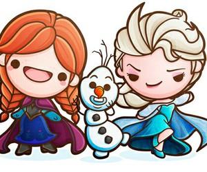 frozen, kawaii, and olaf image