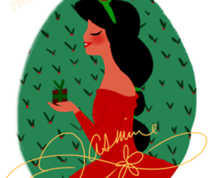 christmas, disney, and jasmine image