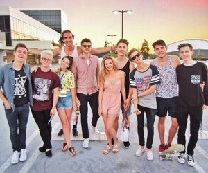 tyler oakley, connor franta, and troye sivan image