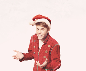 justin bieber, christmas, and Hot image