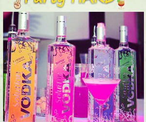 party, pink, and vodka image