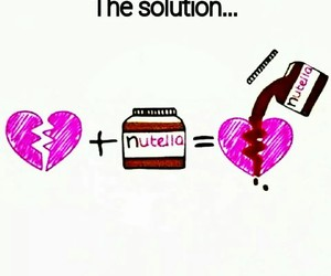 heart, love, and nutella image