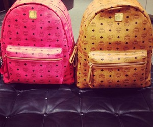 fashion, backpack, and pink image