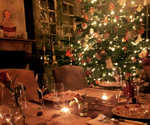 candlelight, december, and christmastree image