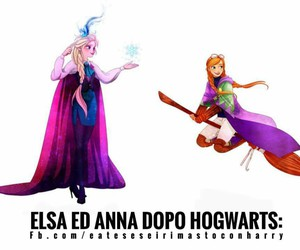anna, frozen, and harry potter image