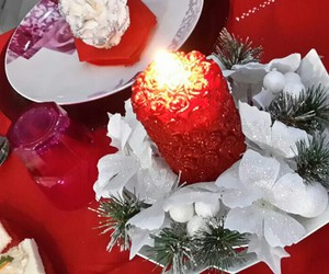 candle, food, and red image