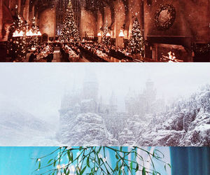 christmas, Collage, and harry potter image