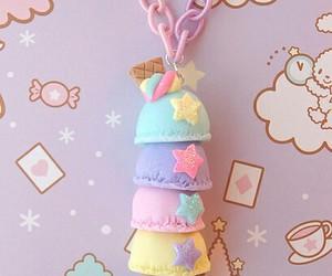 kawaii, ice cream, and pastel image