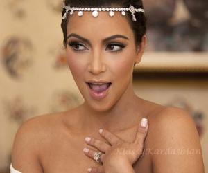 kim kardashian, wedding, and kardashians image