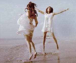 beach and girls image