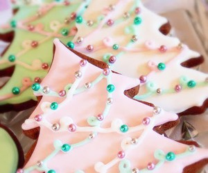 Cookies, green, and christmas trees image