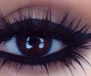 makeup, eyeliner, and black image