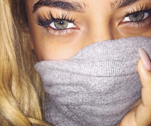 eyes, beauty, and eyelashes image