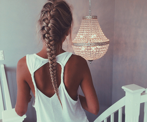 beautiful, hair, and top image